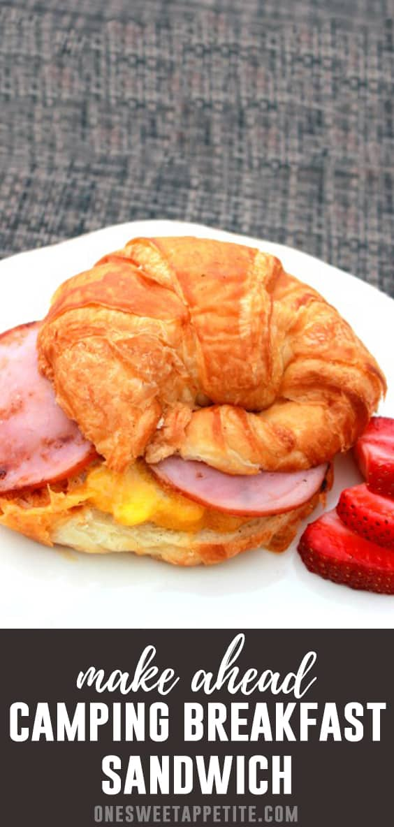 Camping Breakfast Sandwich - Easy to make at the campsite OR before you leave!