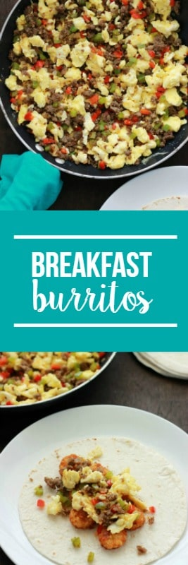 Easy Breakfast Burritos - Perfect freezer meal or camping recipe!