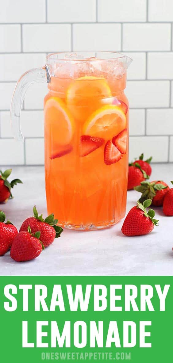 This homemade strawberry lemonade is a refreshing combination of strawberries, lemon juice, and sugar. The perfect summer drink recipe!