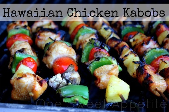Hawaiian Chicken Kabobs - One Sweet Appetite