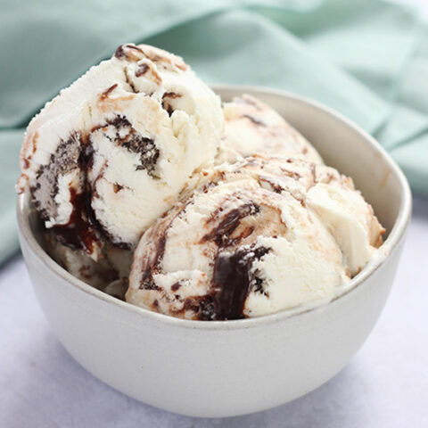 No-Churn Chocolate Swirl Ice Cream