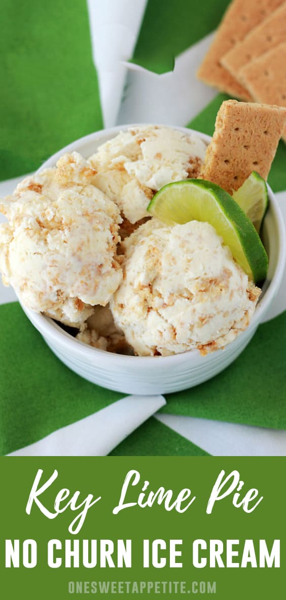 This No-Churn Key Lime Pie Ice Cream is packed with citrus flavor with the added bonus of crushed graham cracker bits!