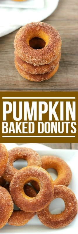 Baked Pumpkin Donuts on One Sweet Appetite