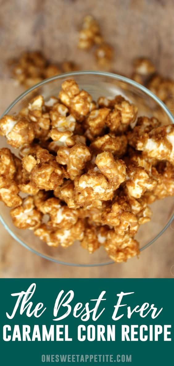This is my absolute favorite Microwave Caramel Corn Recipe! Made with only 6 ingredients; popcorn, brown sugar, honey, butter, baking soda, and vanilla!