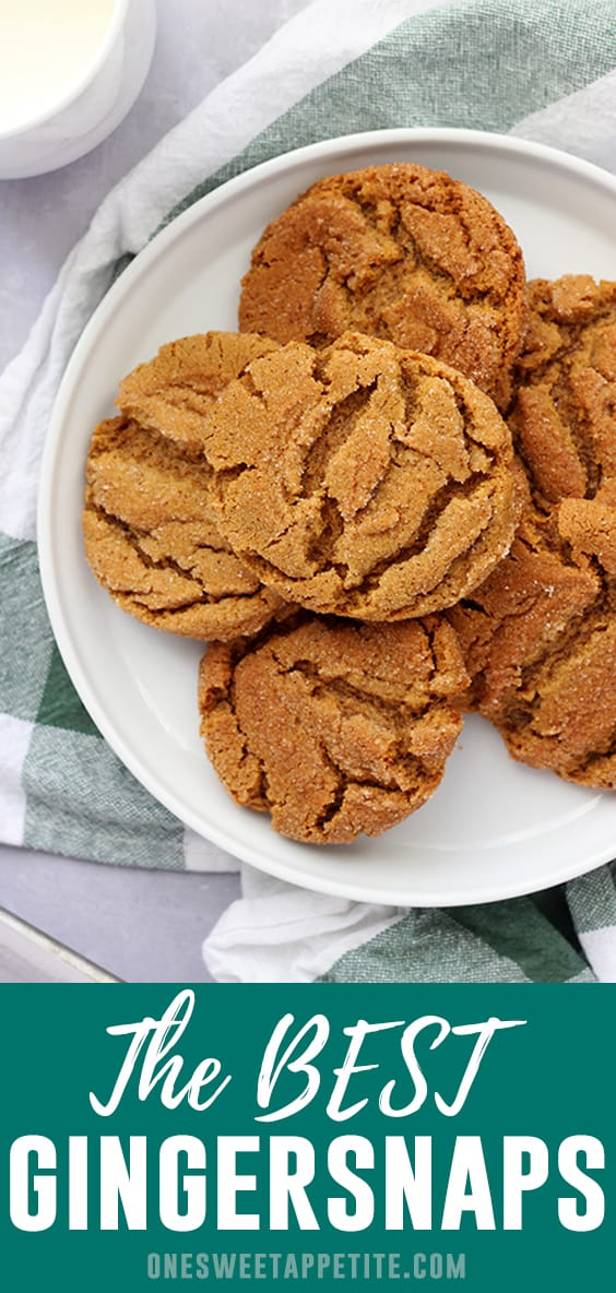 Perfectly spiced gingersnap cookies. These ginger cookies are soft on the center with a crisp exterior. Perfect for any holiday celebration!