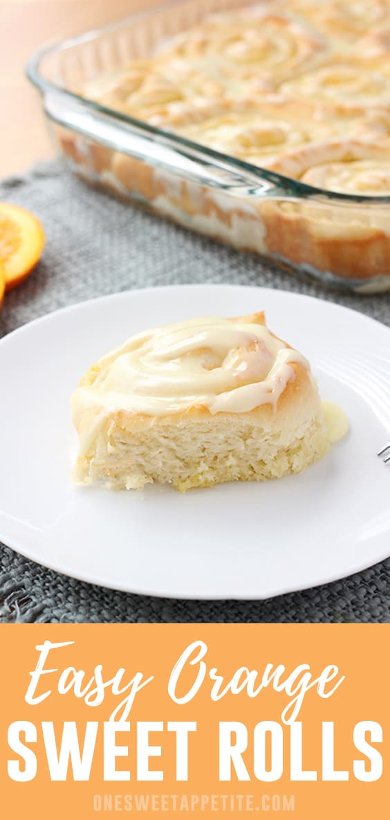 This recipe for Orange Sweet Rolls is simple and delicious! The pastry is filled with sugary orange goodness and topped with a sweet orange glaze.