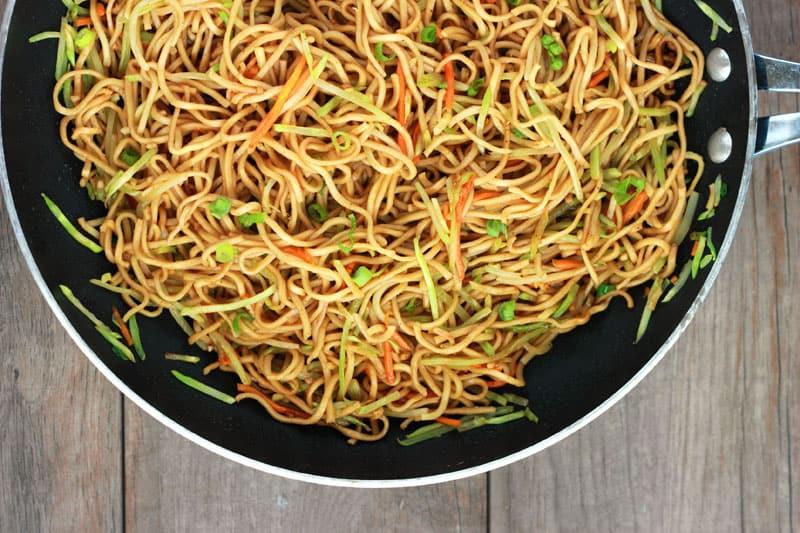 Veggie Lo Mein Recipe on One Sweet Appetite