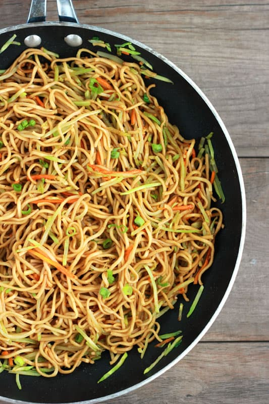 Veggie Lo Mein Recipe on One Sweet Appetite