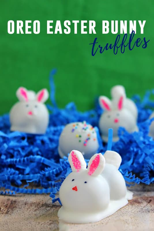 These Oreo bunny truffles are a fun and festive way to celebrate Easter! Made with Oreo cookies, cream cheese, and white chocolate - It is the perfect Easter dessert recipe!