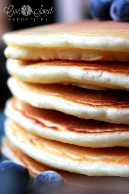 Coconut Blueberry Pancakes