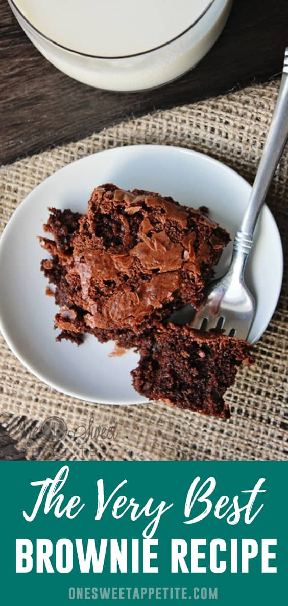 Nothing helps fix a chocolate craving like a pan of the best brownies! With just a few simple ingredients you are left with a rich dense homemade brownie that is unbelievably delicious!