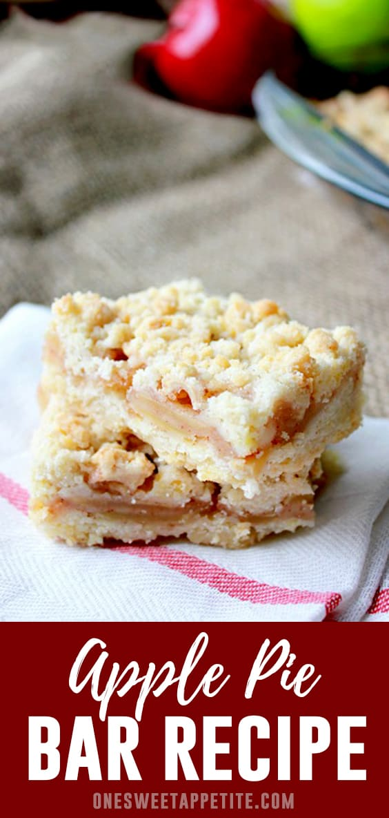 Apple crumb bars are the best way to eat apple pie with your hands! Easy to make and the perfect dessert recipe to share!