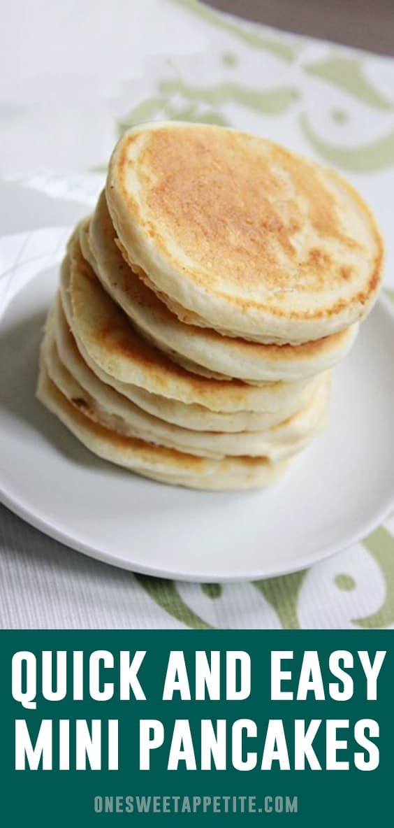 Mini Pancakes are the perfect easy breakfast! A kid favorite recipe AND freezer friendly. Slather with syrup or dust with powdered sugar for a tasty breakfast ready in minutes.