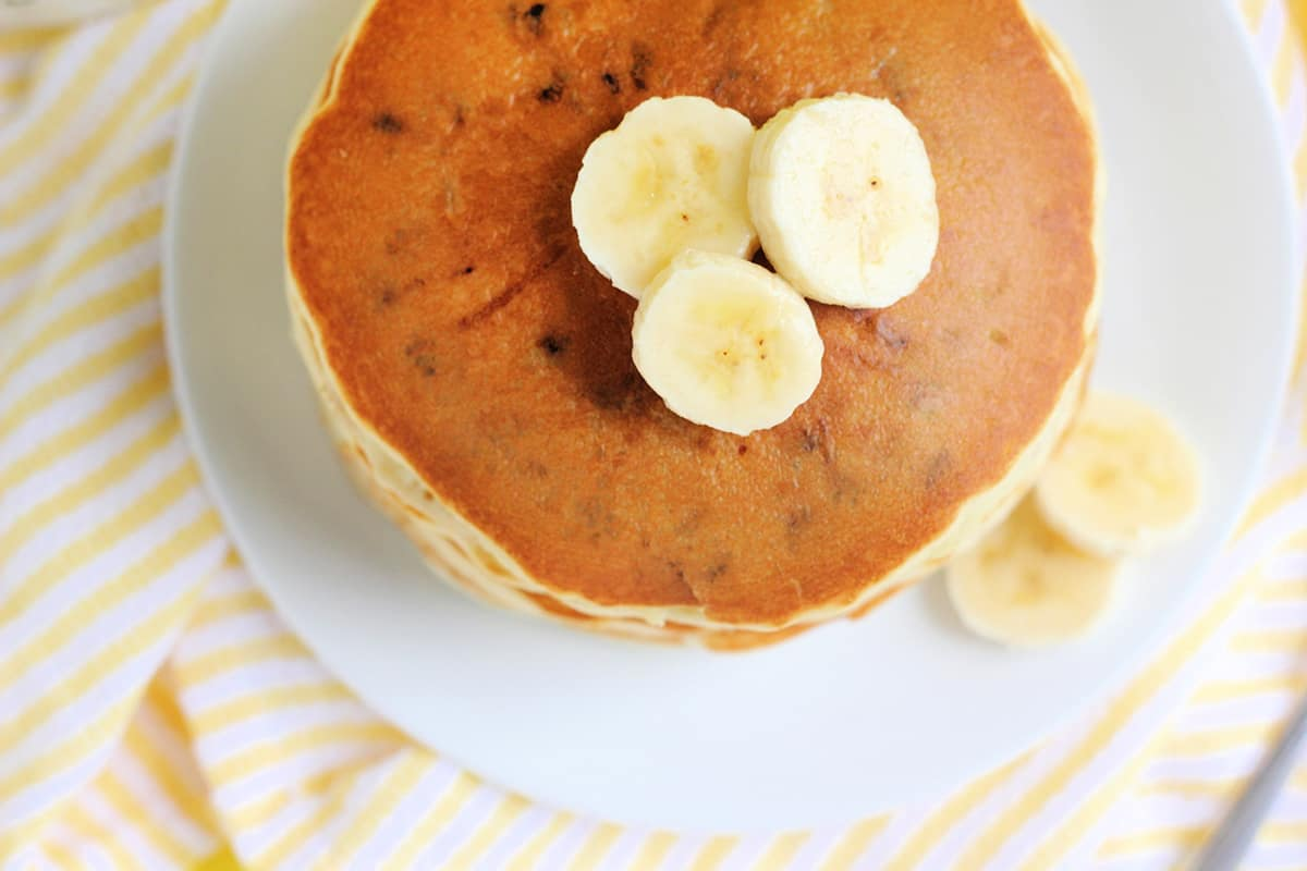 Banana Chocolate Chip Pancake Recipe