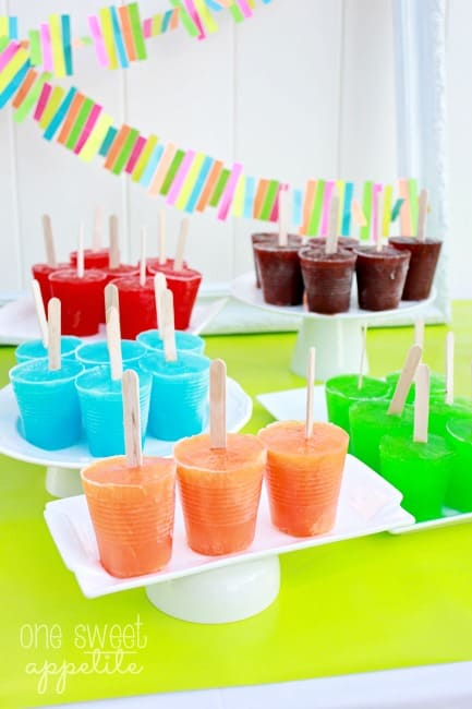Jello Popsicles