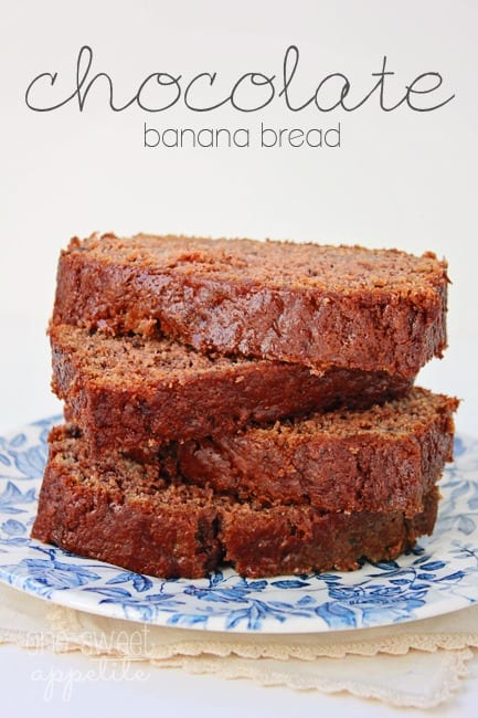 Chocolate Banana Bread - One Sweet Appetite