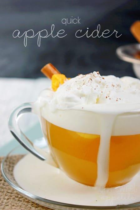 quick apple cider