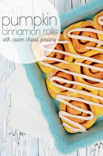 Pumpkin Cinnamon Rolls -