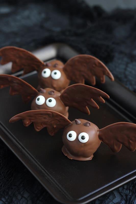 chocolate truffles shaped like bats