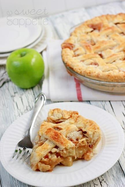 caramel apple pie slice