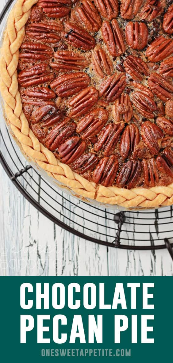 This wonderfully rich chocolate pecan pie recipe is a southern pie classic. Made with just a handful of ingredients and a sweet secret!