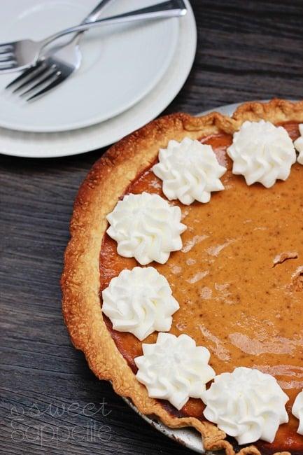 Pumpkin Pie Recipe - One Sweet Appetite