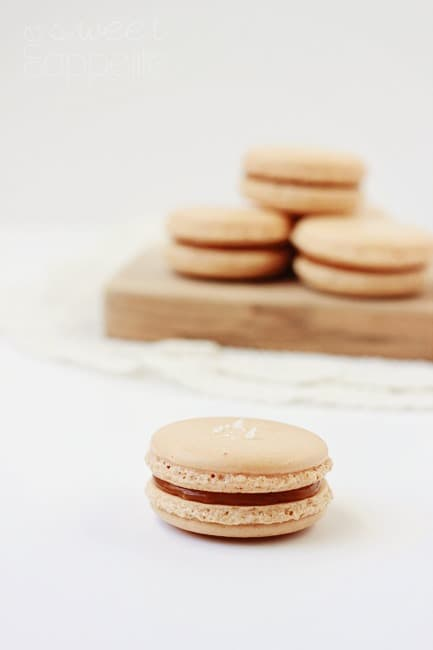 salted caramel french macaron easy recipe