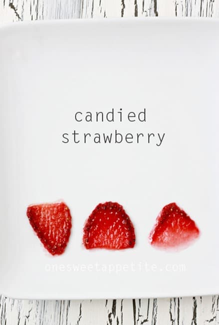candied strawberries
