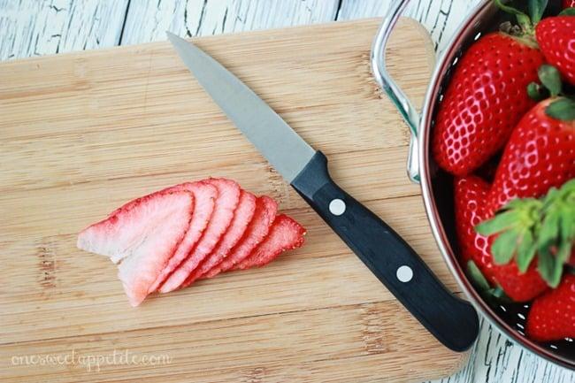 candied strawberries sliced berries