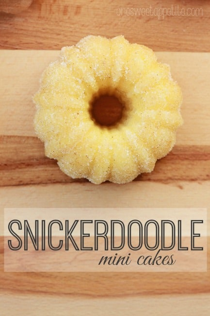mini snickerdoodle cake