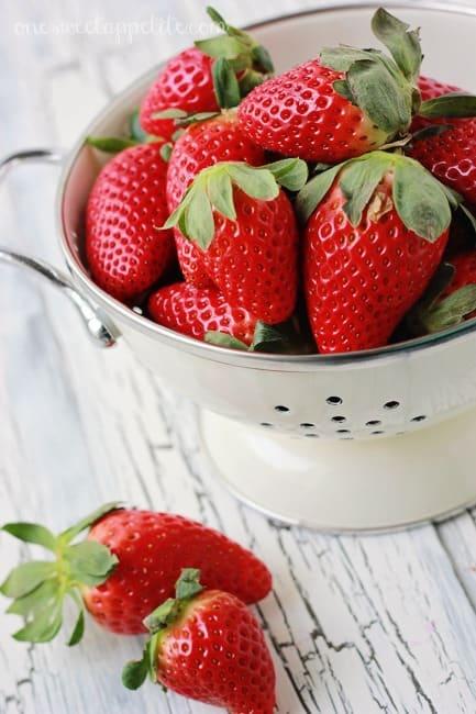 candied strawberries berries