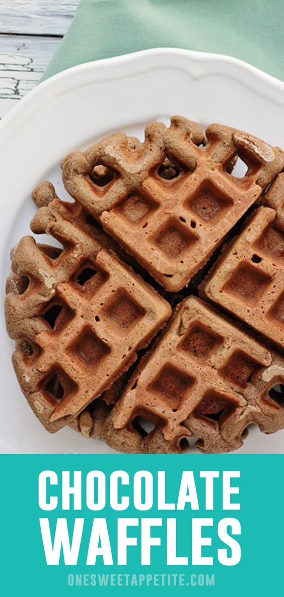 Chocolate Waffles - This recipe is the perfect way to start Valentines Day!