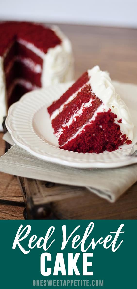 This Classic Red Velvet cake is made with buttermilk and topped with a rich and creamy cream cheese frosting. Delicious and beautiful!