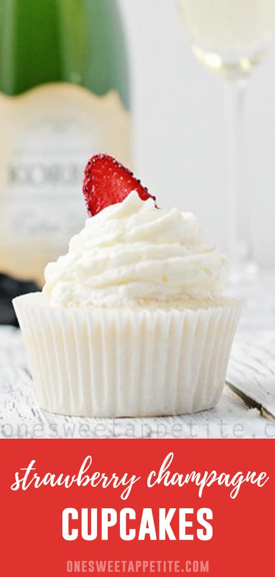 Celebrate every occasion with these homemade Champagne Cupcakes! Packed with the bold flavor of champagne and a sweet strawberry filling giving you the perfect cupcake recipe!