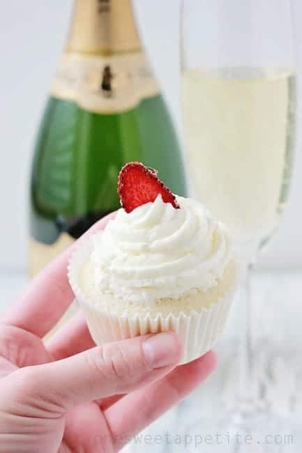 Homemade Champagne Cupcakes