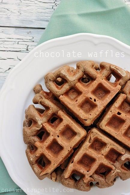 Chocolate Waffles - One Sweet Appetite