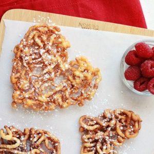 Heart Funnel Cakes