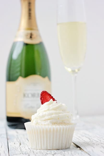 Champagne Cupcakes - One Sweet Appetite
