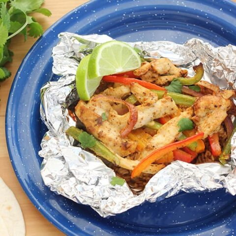 Tin Foil Chicken Fajitas