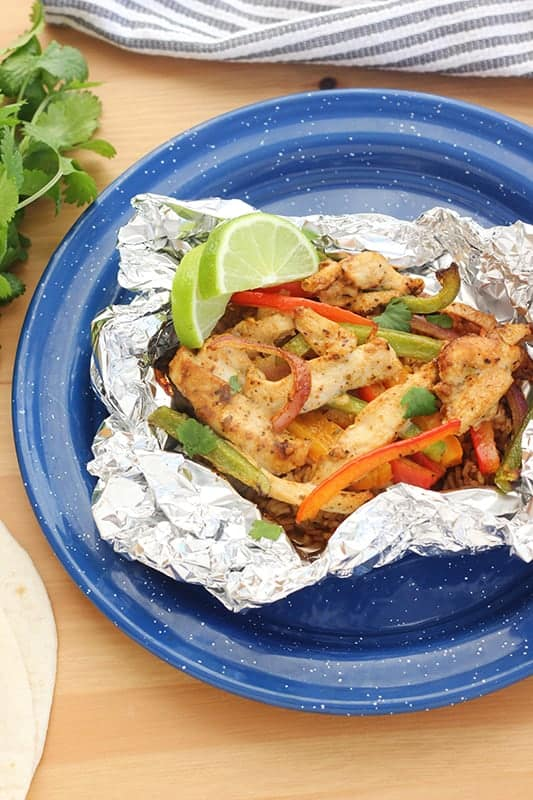 Easy Tin Foil Chicken Fajitas
