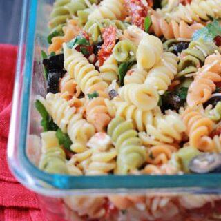 Camping Recipe: Tomato Feta Pasta Salad