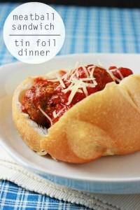 Meatball Sub Tin Foil Dinner