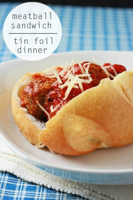 Meatball Sub Tin Foil Dinner One Sweet Appetite