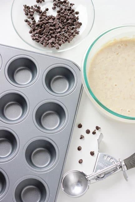 ingredients for banana pancake muffins