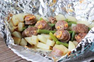 Italian Sausage and Potato Tin Foil Dinner
