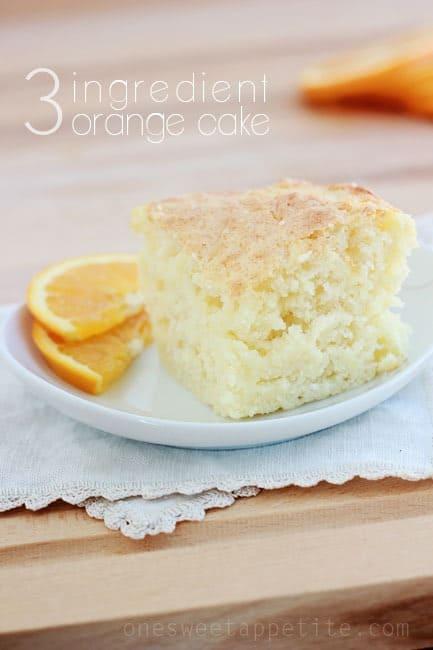 3 ingredient orange cake recipe