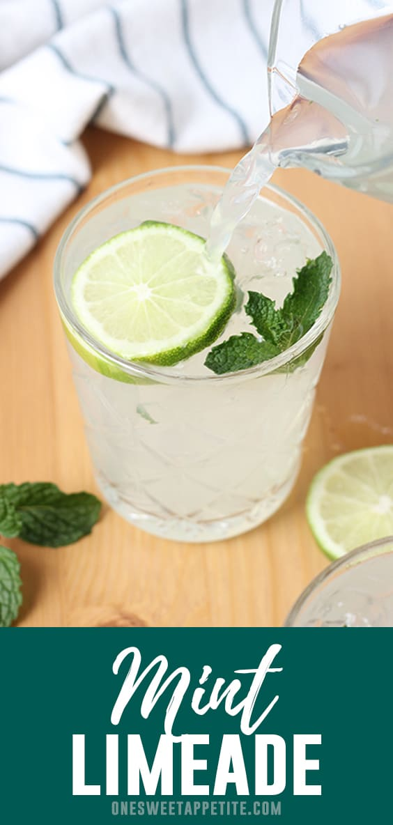 This homemade mint limeade recipe is about to become a summer staple. Refreshing, easy to make, and a go-to for summer gatherings like picnics and BBQ's! Made with fresh squeezed lemon and lime juice and a hefty handful of mint!