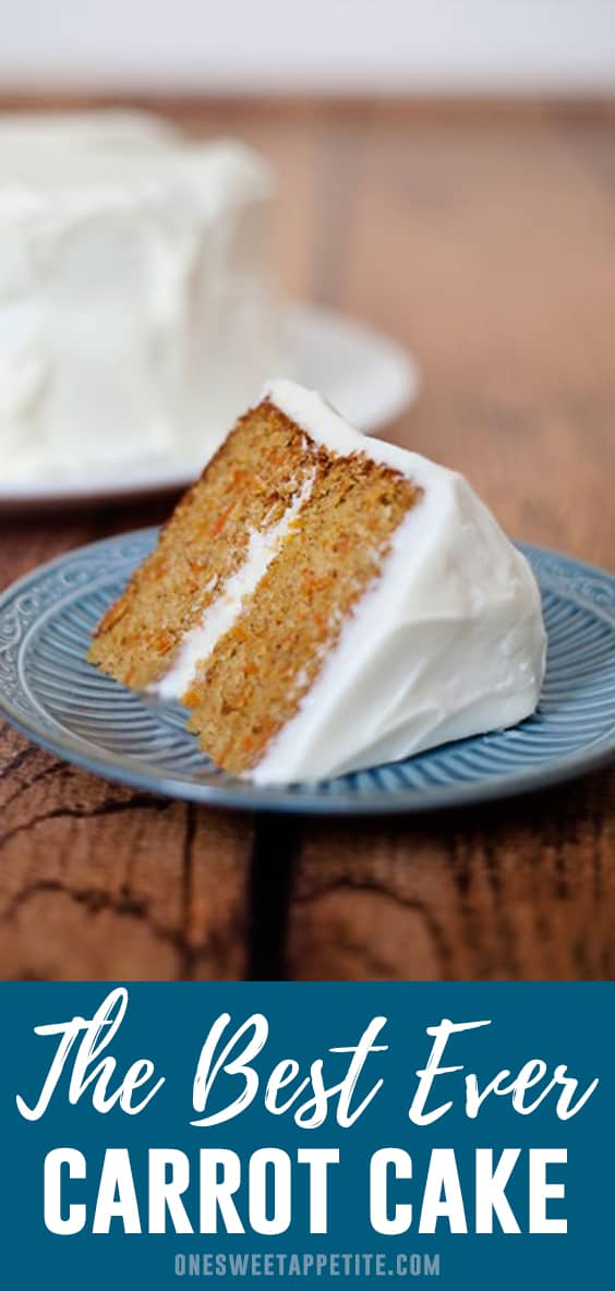 This simple carrot cake recipe is topped with a sweet cream cheese frosting. Perfect for beginner bakers and unbelievable flavor!