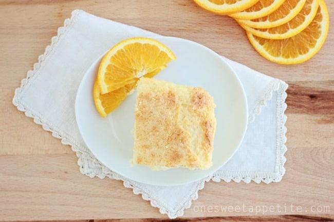 3 ingredient orange cake slice