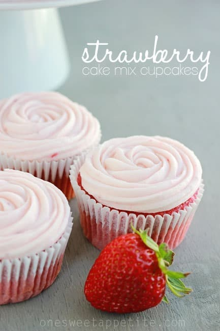 cake mix strawberry cupcake recipe
